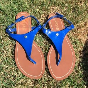 Ralph Lauren blue sandals size 7.5